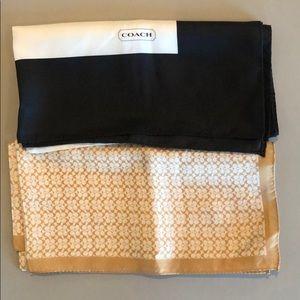 100% Silk Coach Scarf 21x21 (2 scarves)